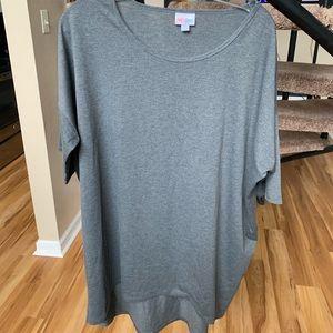 Lu La Roe 3/4 sleeve gray shirt